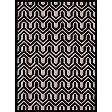 Mercer41 Beaconsfield Ivory/Black Area Rug; 5'3'' x 7'3''