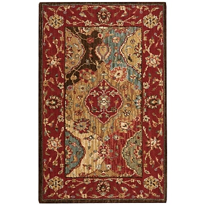 Darby Home Co Crownover Wool Red Area Rug; Rectangle 2'6'' x 4'3''