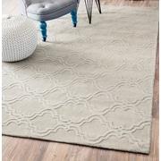 Willa Arlo Interiors Alonza Hand-Woven Cream Wool Area Rug; 9'6'' x 13'6''