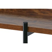 Gracie Oaks Calona Modern Wood and Steel 3 Shelf 36'' Etagere Bookcase