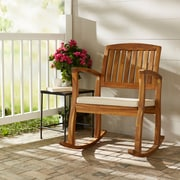 Highland Dunes Kairi Acacia Rocking Chair w/ Cushion