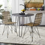 Mistana Marleigh Side Chair (Set of 2); Natural Brown Wash