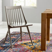 Mistana Massey Solid Wood Dining Chair (Set of 2); Gray