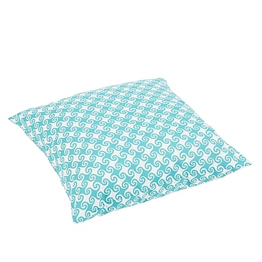 Bayou Breeze Estelle Waves Square Indoor/Outdoor Floor Pillow