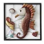 Highland Dunes Seahorse Square Panel Wall D cor
