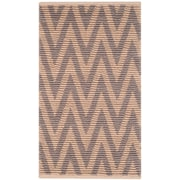 Highland Dunes Arria Hand-Woven Natural/Gray Area Rug