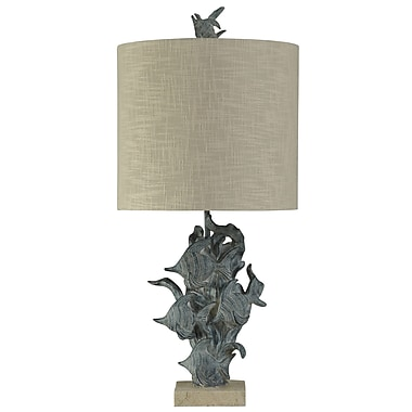 Highland Dunes Royal Hand Carved Fish Underwater 33'' Table Lamp