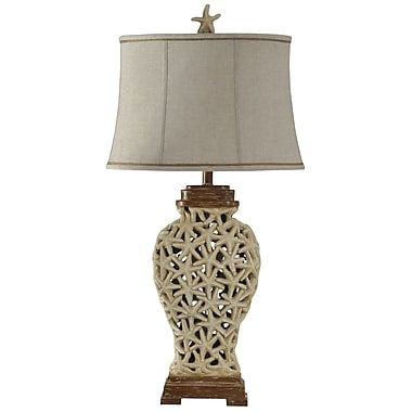 Highland Dunes Stephaine Open Weave Starfish 36'' Table Lamp