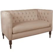 World Menagerie Lyric Tufted Chesterfield Settee; Pearl