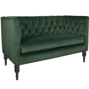 World Menagerie Lyric Tufted Chesterfield Settee; Mystere Jade