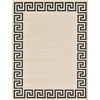 Willa Arlo Interiors Ellery Beige/Black Area Rug; 9' x 12'