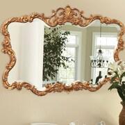 Willa Arlo Interiors Braeden Traditional Rectangle Wall Mirror; Gold