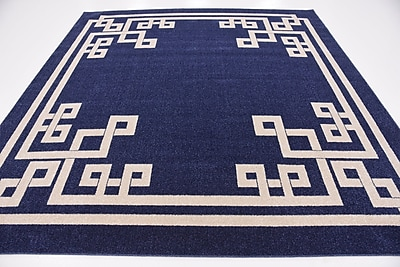 Willa Arlo Interiors Ellery Dark Blue Area Rug; Square 8'