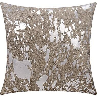 Willa Arlo Interiors Stacia Metallic Splash Throw Pillow; Gray Silver