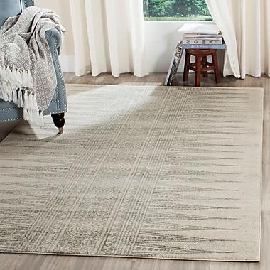 Mistana Elson Rectangle Ivory/Silver Area Rug; 6'7'' x 9'