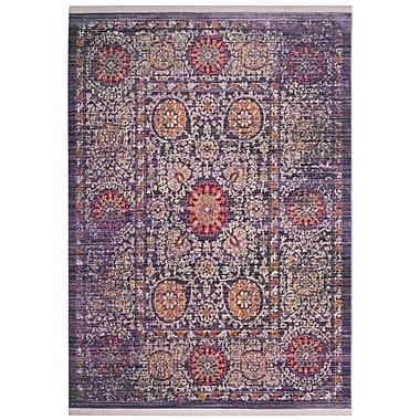 Mistana Mellie Beige/Purple Area Rug; Square 6'
