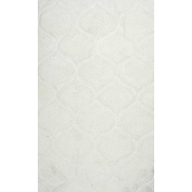 Willa Arlo Interiors Gerold Hand-Tufted White Area Rug; 8'6'' x 11'6''