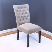 Willa Arlo Interiors Erling Velvet Parsons Chair (Set of 2); Taupe