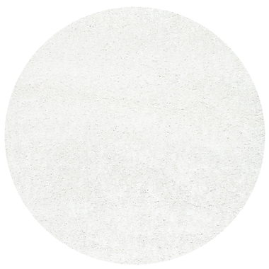 Willa Arlo Interiors Welford White Area Rug; Round 5'3''