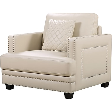 Willa Arlo Interiors Dia Nailhead Club Chair And Ottoman; Beige