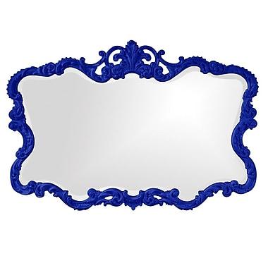 Willa Arlo Interiors Braeden Traditional Rectangle Wall Mirror; Royal Blue