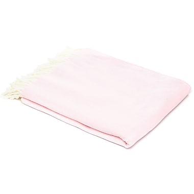 Willa Arlo Interiors Kaya Herringbone Throw Blanket; Cherry Blossom