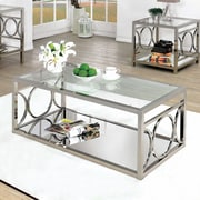 Willa Arlo Interiors Heverlee Coffee Table; Chrome