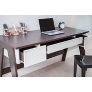 Brayden Studio Holte 3 Drawer Wood Home Office Writing Desk