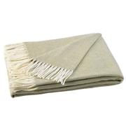 Willa Arlo Interiors Kaya Herringbone Throw Blanket; White Sage