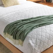 Willa Arlo Interiors Kaya Herringbone Throw Blanket; Olive