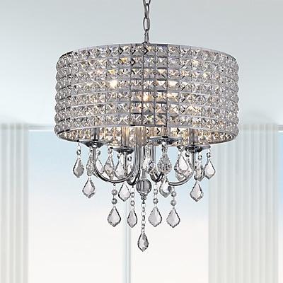 Willa Arlo Interiors Albano 4-Light Crystal Chandelier; Chrome