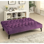 Willa Arlo Interiors Alcaraz Sleeper Sofa; Purple