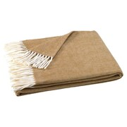 Willa Arlo Interiors Kaya Herringbone Throw Blanket; Caramel