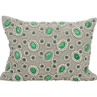 Willa Arlo Interiors Surrey Rectangular Lumbar Pillow; Emerald