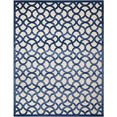 Willa Arlo Interiors Stanhope Ivory/Blue Area Rug; 5'3'' x 7'3''