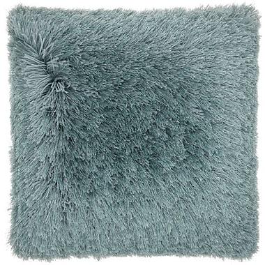Willa Arlo Interiors Bowyer Shag Throw Pillow; Celadon