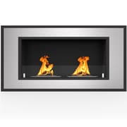 Orren Ellis Maybelle Ventless Built in Recessed Wall Mounted Manual Bio-Ethanol Fireplace Insert