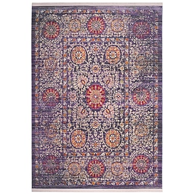 Mistana Mellie Beige/Purple Area Rug; 5' x 7'