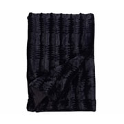 Willa Arlo Interiors Florencio Embossed Throw Blanket; Black