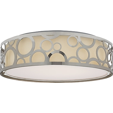 Willa Arlo Interiors Sergent 1-Light LED Flush Mount; Polished Nickel