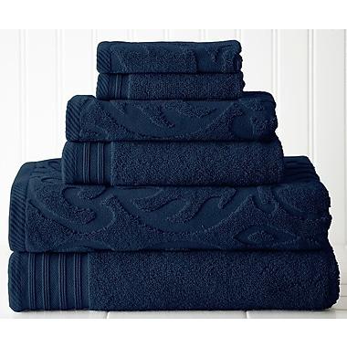 Willa Arlo Interiors Solid 6 Piece Towel Set; Denim