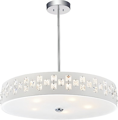CrystalWorld Stellar 5-Light Drum Chandelier