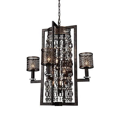 CrystalWorld Pollett 8-Light Candle-Style Chandelier
