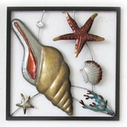 Highland Dunes Conch Shell Square Panel Wall D cor