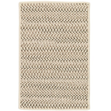 Highland Dunes Arvie Striped Hand-Woven Natural Area Rug; 5' x 8'