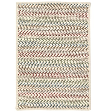 Highland Dunes Arvie Hand-Woven Red/Green Area Rug; 3' x 5'