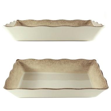 Bloomsbury Market Hector Rectangular Platter; 2.4'' H x 13.75'' W x 9.5'' D
