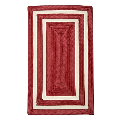 Bay Isle Home Marti Hand-Woven Outdoor Red Area Rug; Square 12'