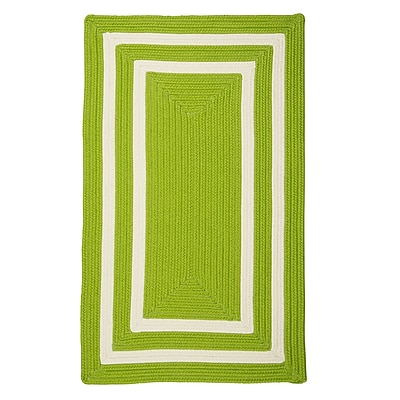 Bay Isle Home Marti Hand-Woven Outdoor Green Area Rug; 3' x 5'