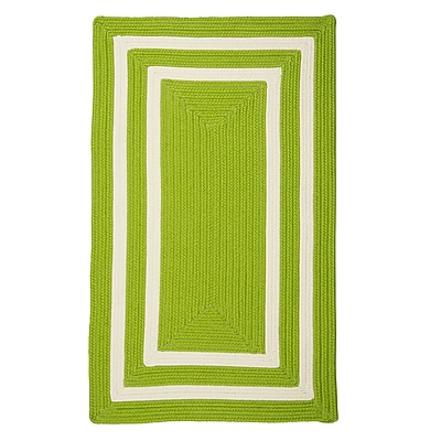 Bay Isle Home Marti Hand-Woven Outdoor Green Area Rug; Runner 2' x 10'